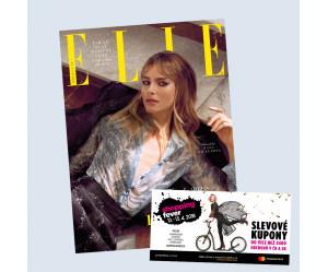 Časopis Elle 4/2018  + slevové kupóny Shopping Fever zdarma
