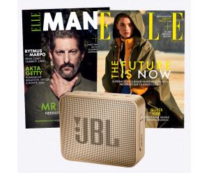 Duo předplatné ELLE (12 vydání) & ELLE Man (2 vydání) + reproduktor JBL GO2 zlatý