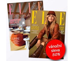Roční předplatné ELLE (12 vydání) + Elle Decoration (4 vydání) se slevou 50%