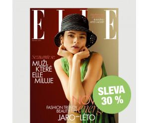 Půlroční tištěné předplatné ELLE se slevou 30 %