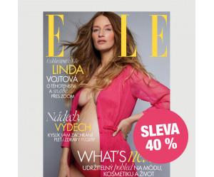 Čtvrtletní tištěné předplatné ELLE se slevou 40 %