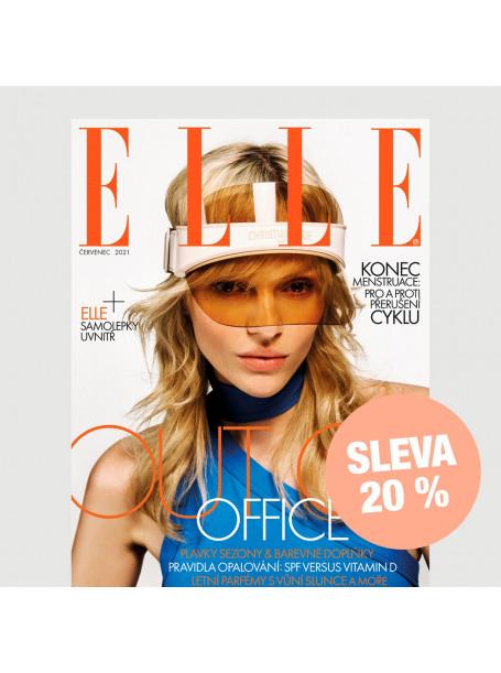 Čtvrtletní tištěné předplatné ELLE se slevou 20 %