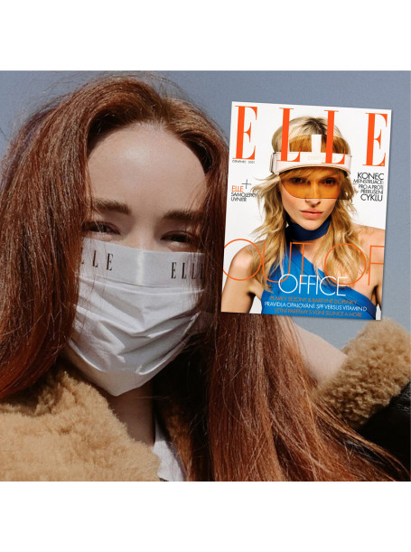 Půlroční předplatné ELLE + bílá rouška ELLE