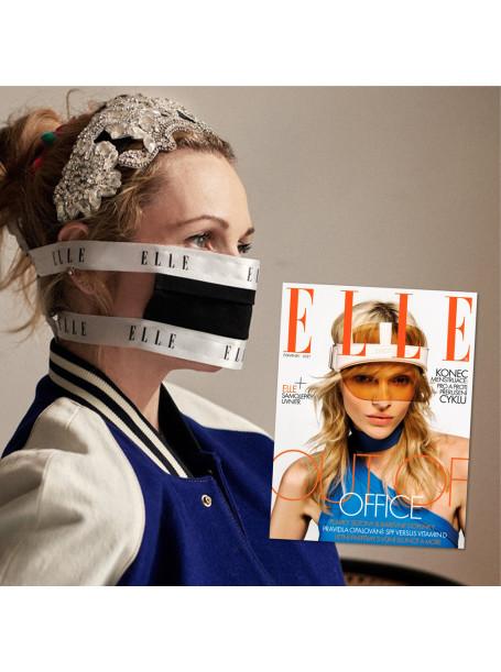 Půlroční předplatné ELLE + černá rouška ELLE