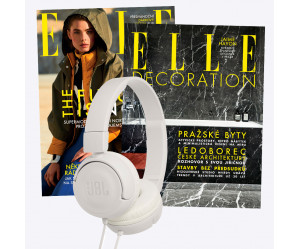 Duo předplatné ELLE (12 vydání) & ELLE Decoration (4 vydání) + bílá sluchátka JBL T450